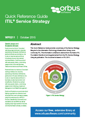 Quick Reference Guide ITIL Service Strategy