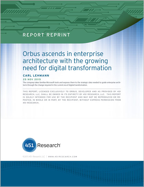 451 Research - Orbus Software Impact Report