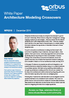 Architecture Modeling Crossovers