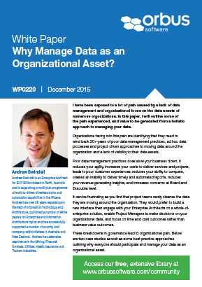 Why Manage Data as an Organizational Asset?