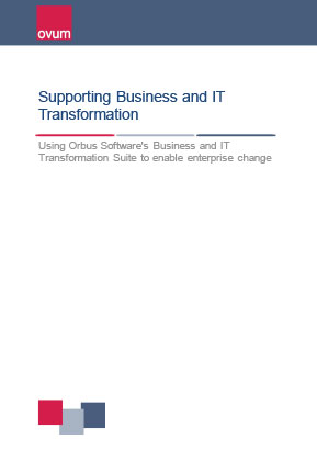 Supporting Business and IT Transformation - Ovum White Paper