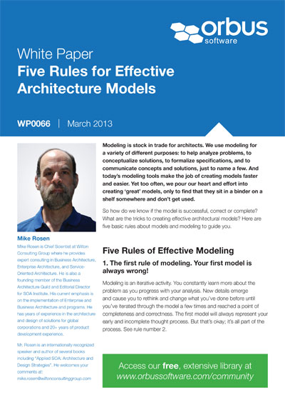 Five Rules for Effective Architecture Models