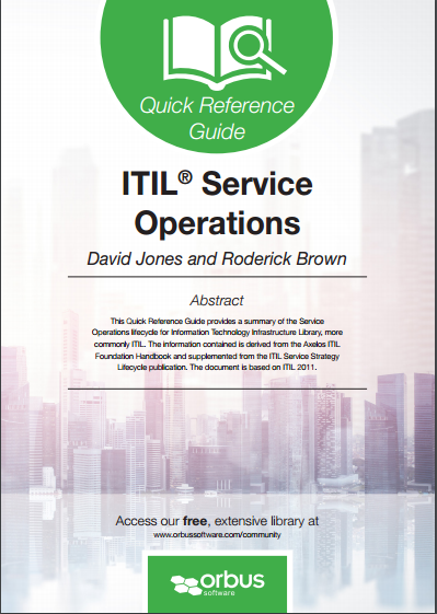 Quick Reference Guide ITIL Service Operations
