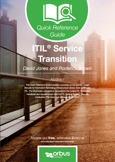 Quick Reference Guide ITIL Service Transition
