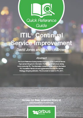 Quick Reference Guide ITIL Continual Service Improvement