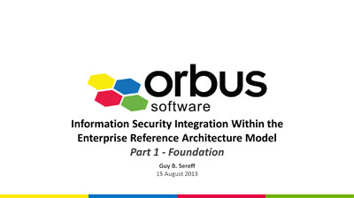 Security Integration within the Enterprise Reference Architecture Model Part 1
