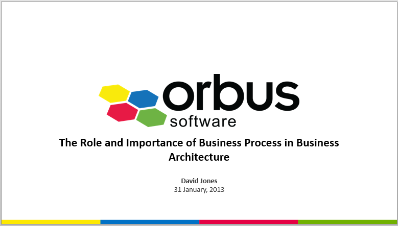 The Role and Importance of Business Process in Business Architecture