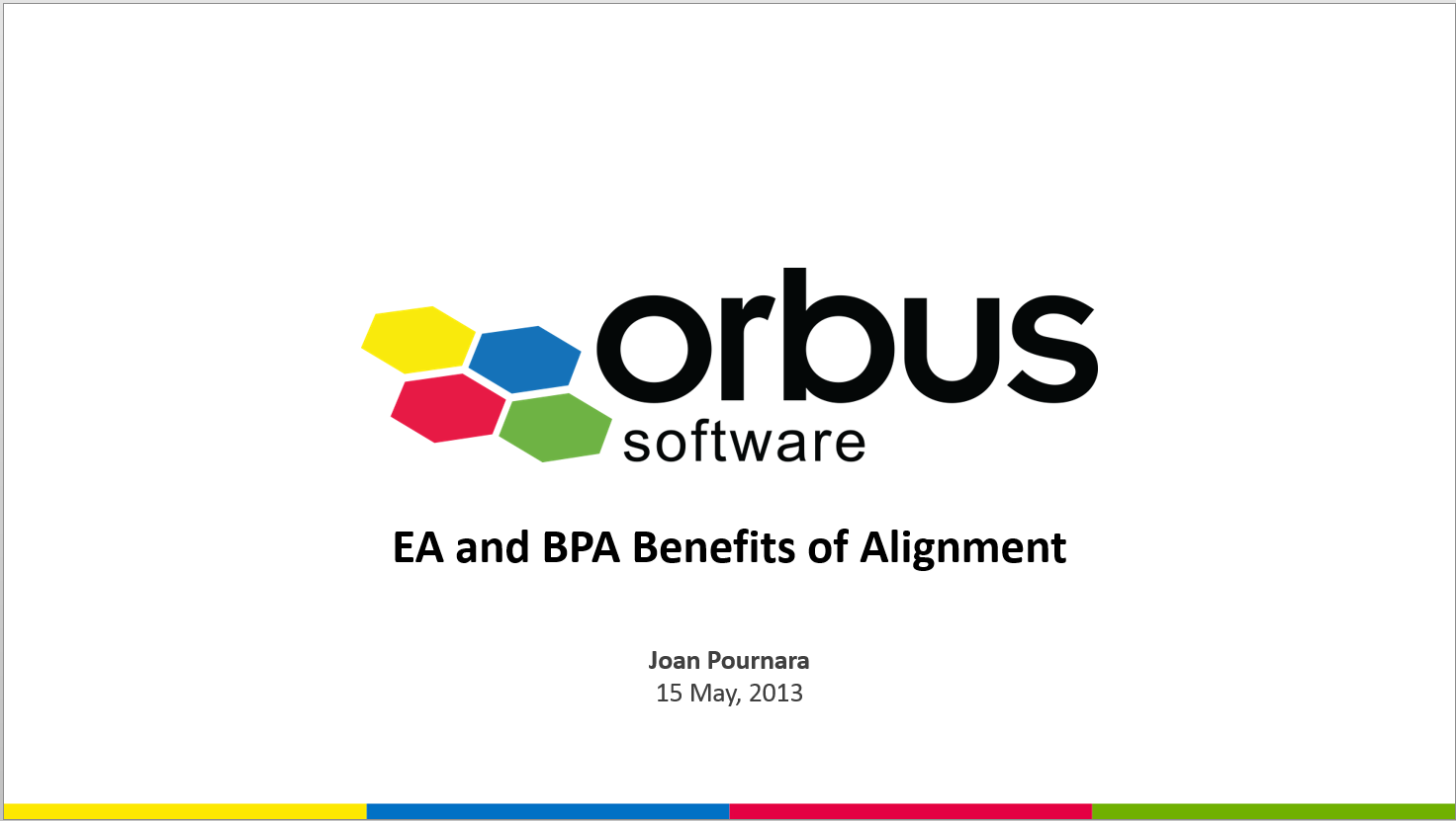 EA and BPA: Benefits of Alignment