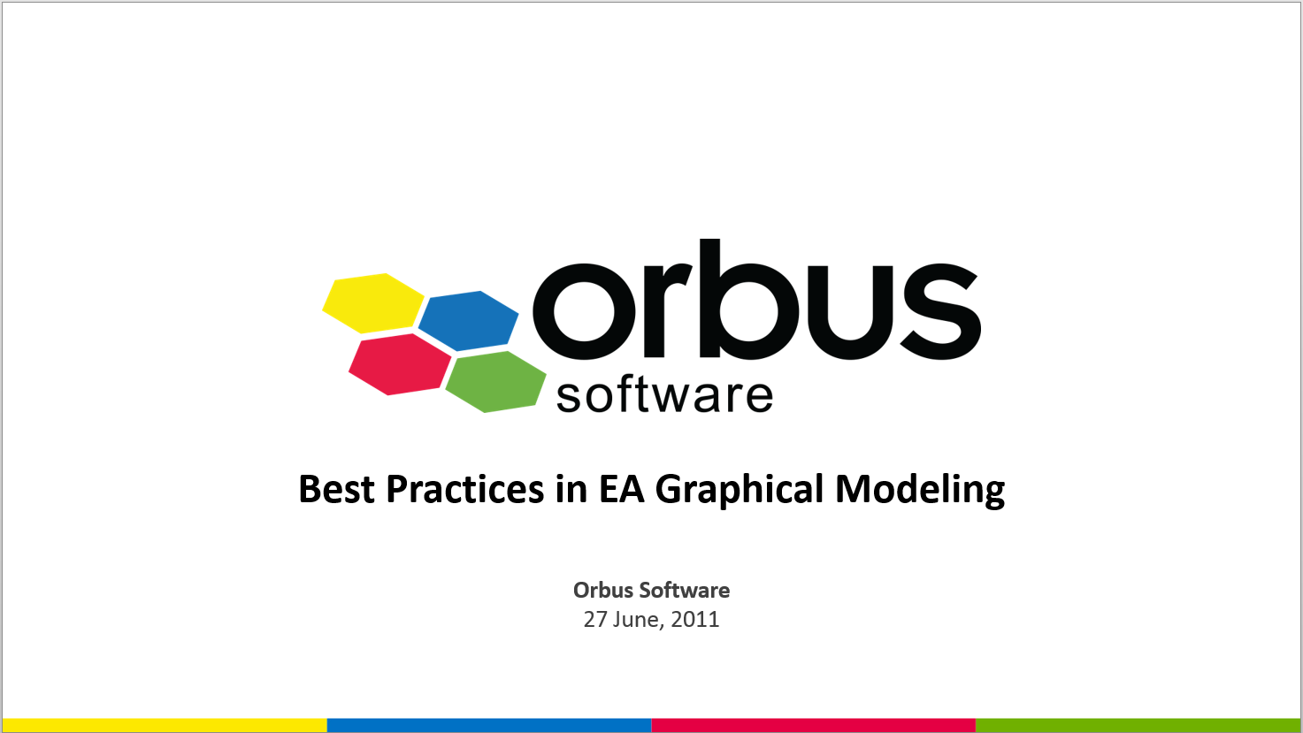 Best Practices in EA Graphical Modelling