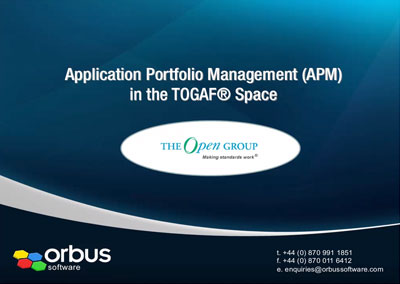 Application Portfolio Management in the TOGAF Space