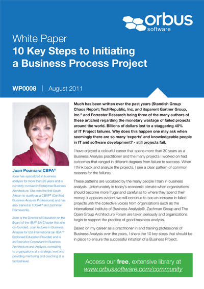 10 Key Steps to Initiating a Business Process Project