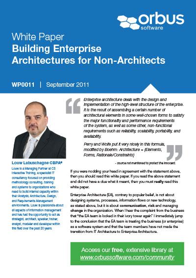 Building Enterprise Architectures for Non-Architects