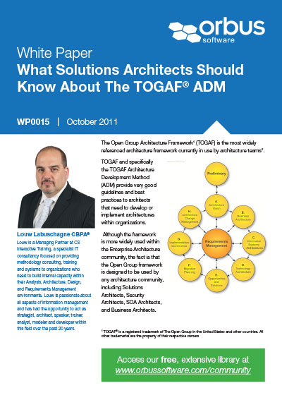 What Solutions Architects Should Know About The TOGAF ADM