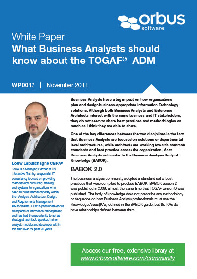 What Business Analysts should know about the TOGAF ADM