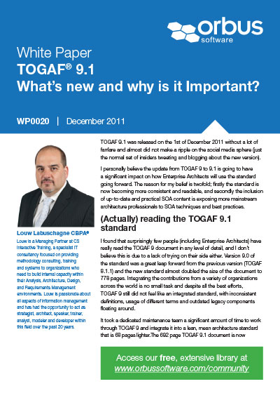 TOGAF 9.1: What's New and Why is it Important?