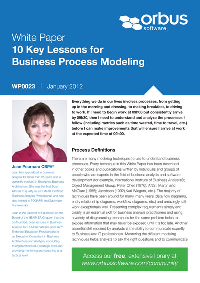 10 Key Lessons for Business Process Modeling