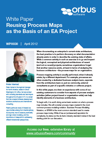 Reusing Process Maps as the Basis of an EA Project