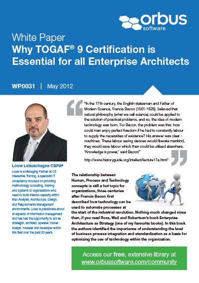 Why TOGAF 9 Certification is Essential for all Enterprise Architects