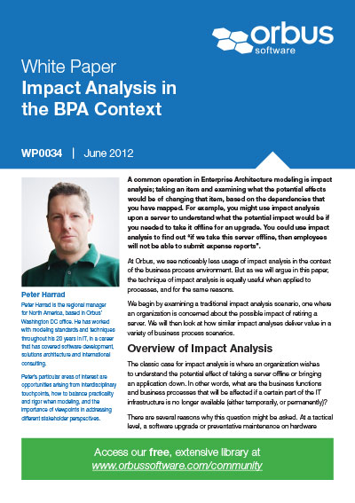 Impact Analysis in the BPA Context