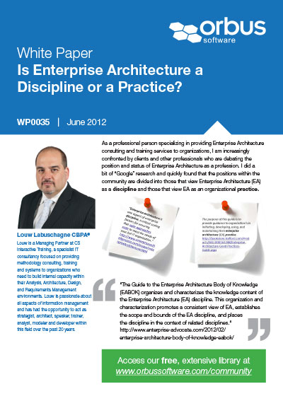 Is Enterprise Architecture a Discipline or a Practice?
