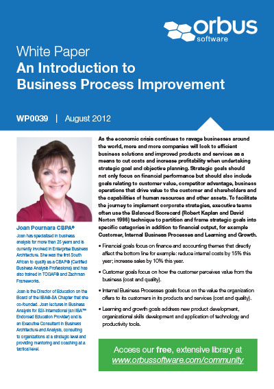An Introduction to Business Process Improvement