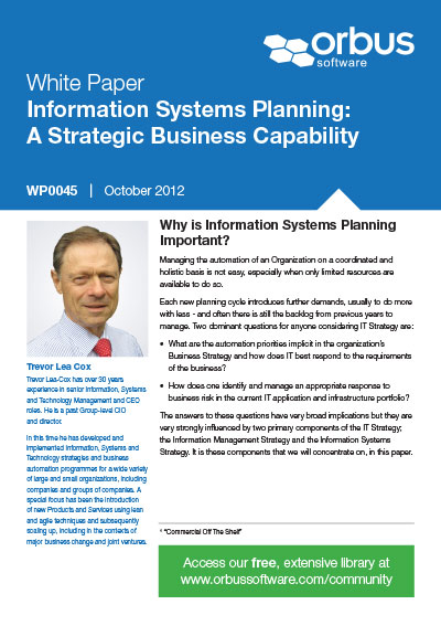 Information Systems Planning - A Strategic Business Capability