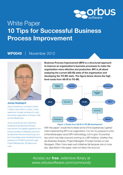 10 Tips for Successful Business Process Improvement