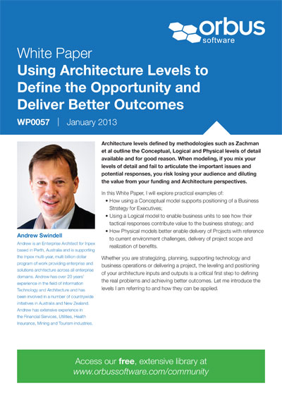 Using Architecture Levels to Define the Opportunity and Deliver Better