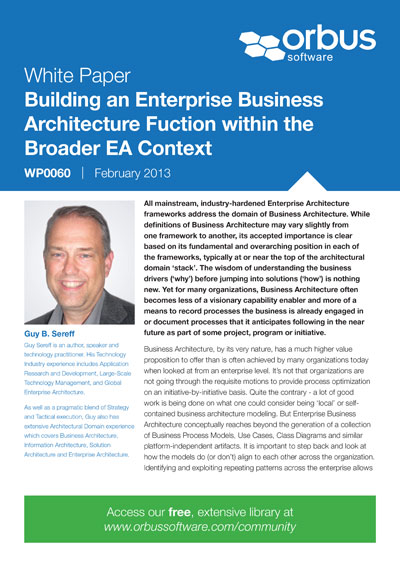 Building an Enterprise Business Architecture Function within the Broader Enterprise Architecture Context