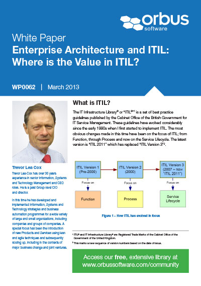 Enterprise Architecture and ITIL: Where is the Value in ITIL?