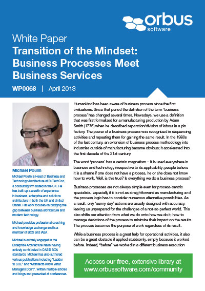 Transition of the Mindset: Business Processes Meet Business Services