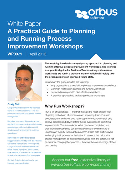 Back to Basics: A Practical Guide to Planning & Running Process Improvement Workshops