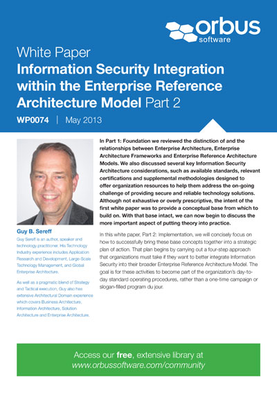 Information Security Integration within the Enterprise Reference Architecture Model: Part 2