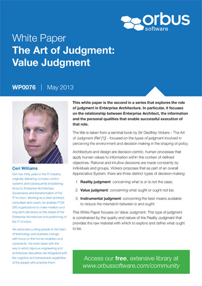 The Art of Judgment: Value Judgment