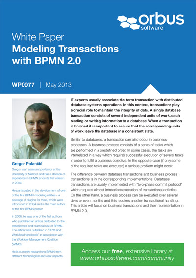 Modeling Transactions with BPMN 2.0