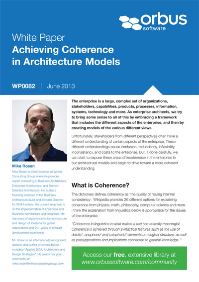 Achieving Coherence in Architecture Models