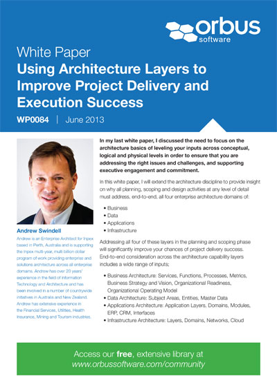 Using Architecture Layers to Improve Project Delivery and Execution Success
