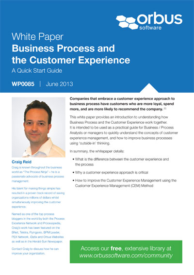 Business Process and the Customer Experience