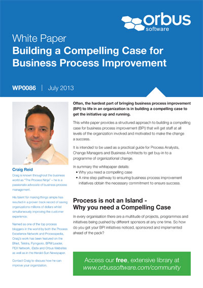 Building a Compelling Case for Business Process Improvement