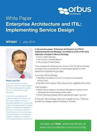 Enterprise Architecture and ITIL®: Implementing Service Design