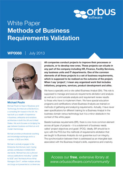 Methods of Business Requirements Validation