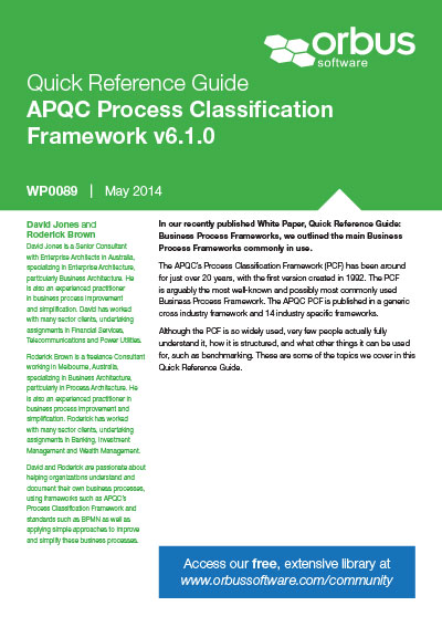 Quick Reference Guide: APQC Process Classification Framework