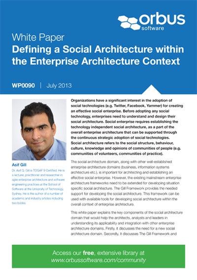 Defining a Social Architecture within the Enterprise Architecture Context