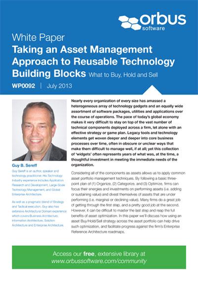 Taking an Asset Management Approach to Reusable Technology Building Blocks
