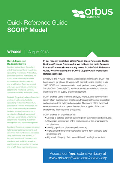 Quick Reference Guide: SCOR Model