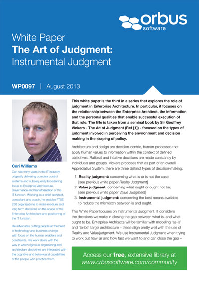 The Art of Judgment: Instrumental Judgment