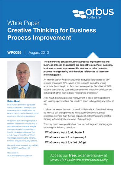 Creative Thinking for Business Process Improvement
