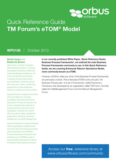 Quick Reference Guide: TM Forums eTOM Model