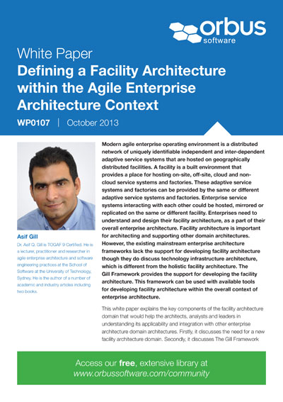 Defining a Facility Architecture within the Agile Enterprise Architecture Context