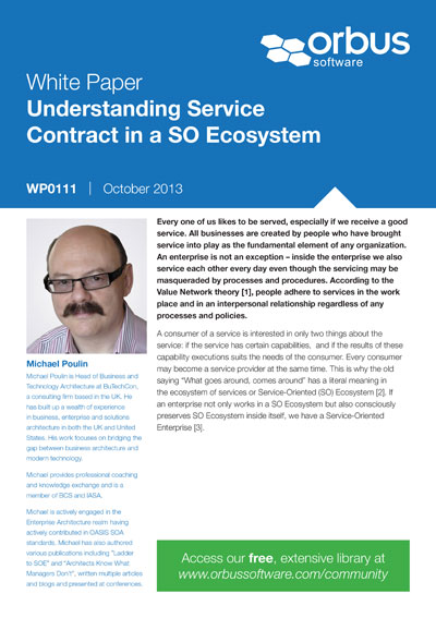 Understanding Service Contract in SO Ecosystem